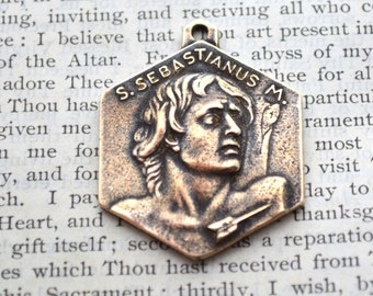 St. Sebastian Medal - Bronze Medal - Patron of Athletes - Vintage Reproduction - Cast in the USA (CD-338)