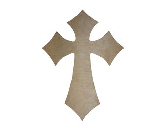 Unfinished Wood Cross Wooden Craft Crosses part 120   17.5 x 24 inch