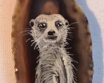 Meerkat Agate Pendant