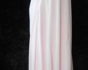 Grecian style pearl beaded rhinestone trimmed chiffon over satin pale pink Ballgown Bridesmaid prom party uk size 10 usa size 6