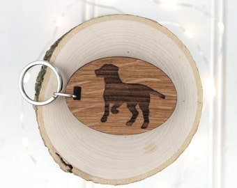 Gun Dog Keyring - Animal Lover Gift - Birthday Gift For Him - Personalised Keyring - Wooden Keyring - Hotel Keyring - Garage Key