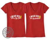 Red Friday shirt, I wear red for my husband, son, daughter, etc, army, air force, navy, marines, deployment shirt, support our troops shirt