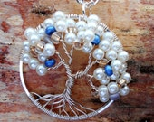 Pearl Tree of Life Pendant, Tree of Life Wire Wrapped Jewelry, Woodland Jewelry, June Birthstone