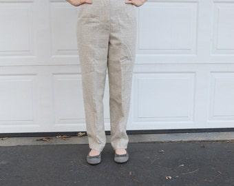 Vintage  Pendleton soft wool calico houndstooth pants, sz 6 petite