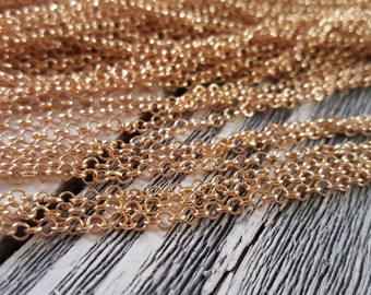 Light Gold Rolo Chain 3mm