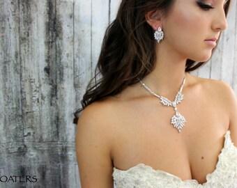 Bridal Jewelry Sets, Wedding Necklace, Wedding Cubic Zirconia Jewelry Set, Wedding Necklace, Bridal Statement Jewelry