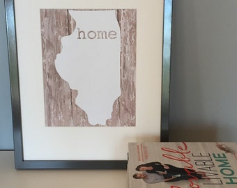 home state framed print - perfect for housewarming gift!