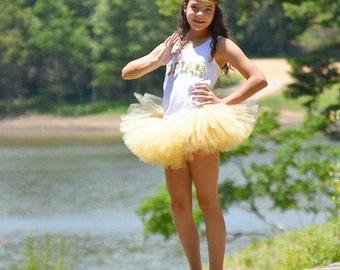 Go for the Gold Tutu - Gold Tutu - Gold Birthday Tutu - Gold Baby Tutu - Gold Flower Girl Tutu - Gold Adult Tutu - Champagne Tutu