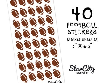 Football Stickers, Football Planner Stickers, Sports Stickers, Game Day Stickers, Game Day Planner Stickers, Decorative Stickers