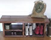 Boot Cubby Rustic Bench Shoe Bench Entryway Hallway Mudroom Storage Bench