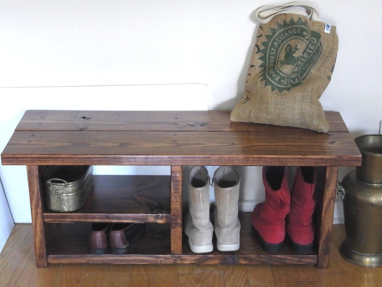 boot cubby rustic bench shoe bench entryway hallway mudroom. Black Bedroom Furniture Sets. Home Design Ideas