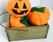 Jack o Lantern, Pumpkin, Felt Food, Felt Vegetable, Fall Harvest, Play Kitchen, Play Food, Halloween,  Child's Gift,  Toys For Toddler, Fall