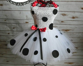 Dalmatian tutu dress| Dalmatian Costume | Newborn-Child 10/12 size