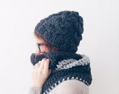 The Braid, Cable Knit Hat, Winter hat in Wool, different colors