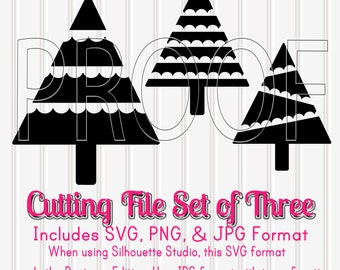 50% OFF Christmas Tree Cut File Set of Three Cutting File Designs in SVG, PNG, & jpg formats. Commercial Use Cut Files Christmas Tree svg