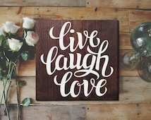 Live Laugh Love Wall Art Sign Rustic Home Decor Cabin Decor Rustic Wall Decor Rustic Wall Art Rustic Country Home Decor Rustic Decorations