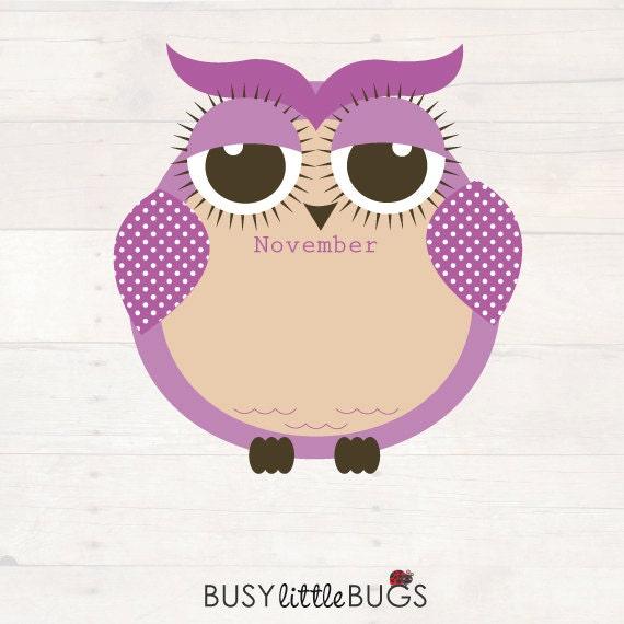Spotty Owl Birthday Chart For Child Educators Automatic
