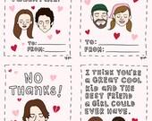 Gilmore Girls Valentine Cards - Printable File