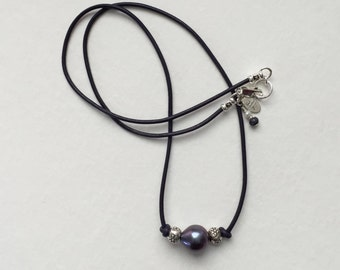 Purple Pearl on Purple Cord