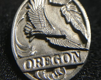 "1990s ""Oregon Eagle"" Siskiyou Pewter Pin (Made in USA)"