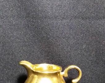 """Vintage 1930's """"RARE"""" German Bavarian Gold Porcelain Creamer (LDT2)"""