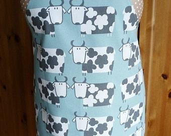 Full length apron - fun cows