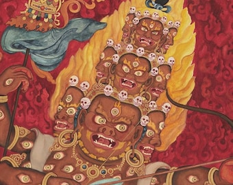 Rahula, Buddhist Protector deity of the Planets ma Za dam sum  serpent Naga eclipse g lord of lightening Za Nyingmapa
