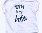 Anna is My Bestie - Frozen Inspired Glitter Shirt