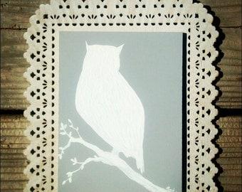 Owl Silhouette Wood Wall Art