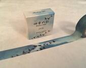 "Blue Sky and Geese Washi Tape - Seasons Color - 15 mm x 7 m (5/8"" x 7.6 yds) - Inspired by Japanese Iroshizuku Ink Ama-iro"