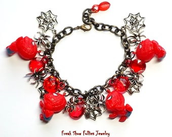 CLEARANCE chibi Spiderman comic book superhero charm bracelet