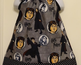Harry Potter Toss Girls Pillow Case Dress Made to Order Sizes 12-18 months, 18-24 months, and 2 to 8, Hermione Granger, Ron Weasley