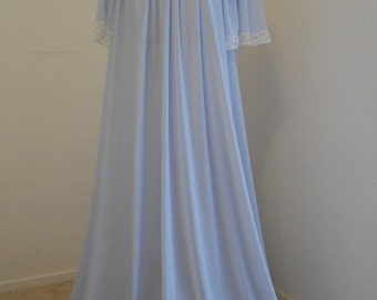 Vintage light blue large sweep nightgown - Lucie Ann
