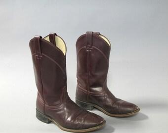 Vintage burgundy leather LAREDO western boots