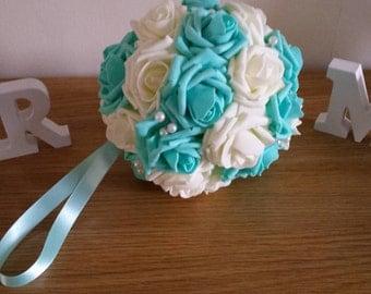"8"" Wedding Pomanders, Wedding Flower Balls, Flower Girl Kissing Ball,  Bouquet Alternative"