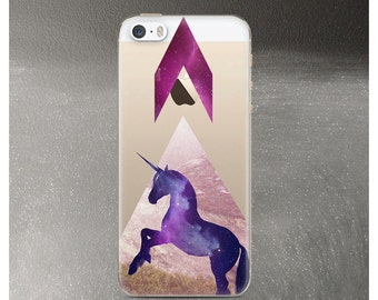 iPhone SE Case Clear, Unicorn iPhone 5 case, Clear Rubber iPhone 5s Case, iPhone SE Case Unicorn