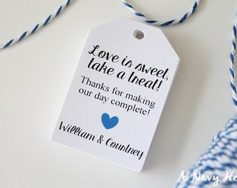 Love is Sweet Tags - Wedding Favor Tag - Wedding Gift Tags - Wedding Tags - Honey Jar Tag - Personalized - Set of 25