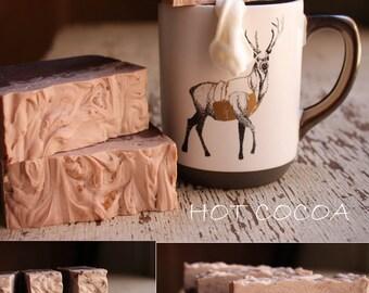 Hot Cocoa Handmade Soap, Holiday Gift Idea, Winter Soap, Homemade Soap, Artisan Soap, Luxury Soap,Hostess Gift