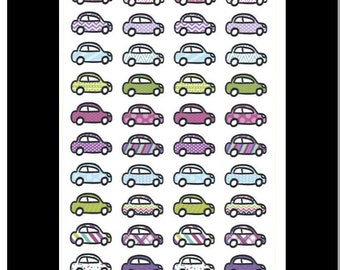 Colorful Cars || Stickers for Life Planner