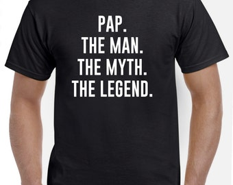 Funny Pap Gift-Pap The Man the Myth-Pap Tshirt Fathers Day Gift