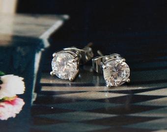Set Of 7 Bridesmaids Earrings Crystal, Crystal Stud Earrings, Bridesmaids Gift Earrings, Swarovski Earrings, Crystal Studs, Wedding Earrings
