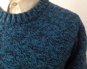 Vintage Blue Wool Sweater by Woolrich Size medium