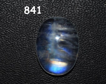 7.7 ct. Rainbow white Moonstone cabochons - 12 x 16 mm -  oval  blue purple fire - Flash Rainbow MOONSTONE - code :841
