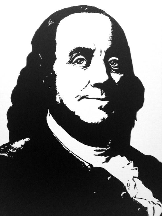 "Benjamin Franklin Custom Pop Art Painting 16""x20"" Canvas President Portrait"