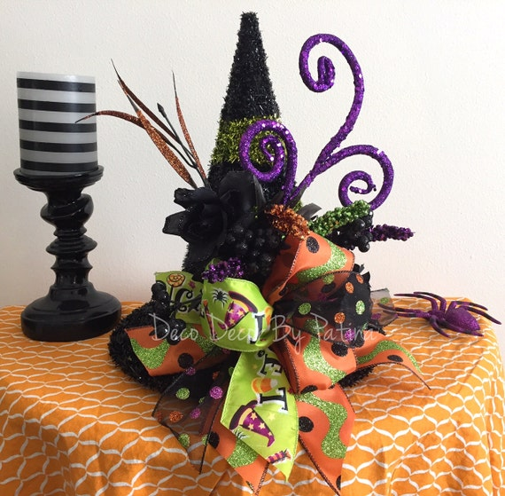 Witch Centerpiece Witch Hat Floral Arrangement Witch Hat
