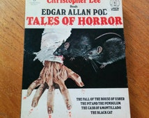 Edgar Allan Poe's Tales of Horror Read by Christopher Lee on Audio Cassette Tapes Vintage 70s