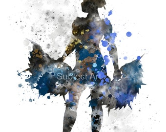 Kitana inspired ART PRINT illustration, Mortal Kombat, Wall Art, Home Decor, Gaming, video game