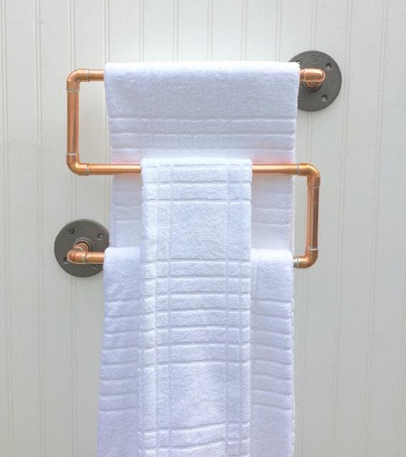 Copper Pipe Towel Rack Industrial Towel Bar Modern