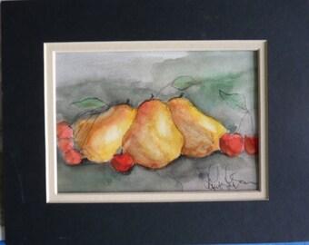 Pears and Cherries Print