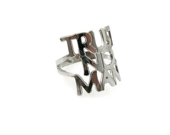 Trust no man ring. Personalized ring. Gift ideas. Personalized jewelry. Personalized gift. Trust no man jewelry. Silver statement ring. Gift
